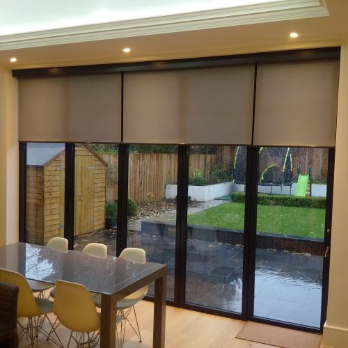 Roller blinds for bifold doors radiant blindsradiant blinds for Door roller blinds
